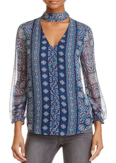 Ella Moss Wayfare Printed Silk Top - 100% Exclusive
