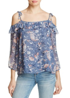 Ella Moss Wildflower Cold-Shoulder Top