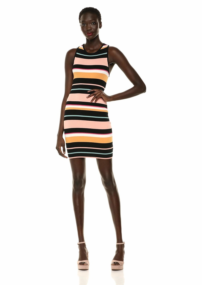 Ella Moss Women's Alexis Stripe Ribbed Dress Desert Flower XLarge