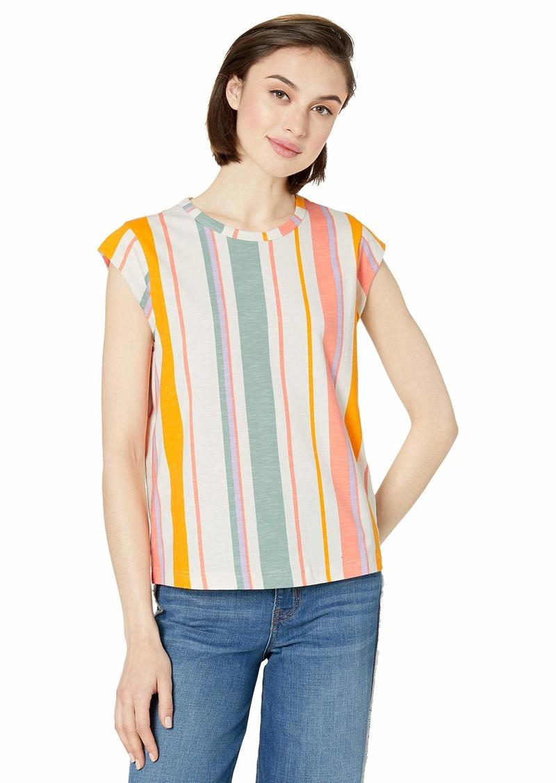 Ella Moss Women's Bea Cap Sleeve Tee Shirt  XSmall
