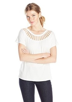 Ella moss Women's Bella Lattice Detail Jersey Tee