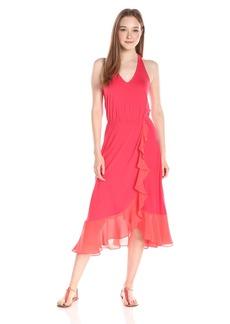 Ella moss Women's Bella Sleeveless Ruffle Skirt Maxi Dress