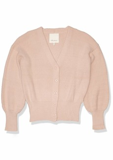 Ella Moss Women's Brinne Stylish V-Neck Crop Cardigan Sweater  XLarge