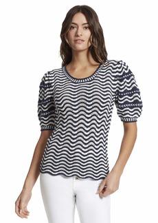 Ella Moss Women's Chelsea Puffed Short Sleeve Sweater Top