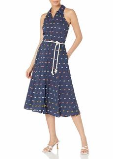 Ella Moss Women's Christina Tie Waist Halter Back Dress