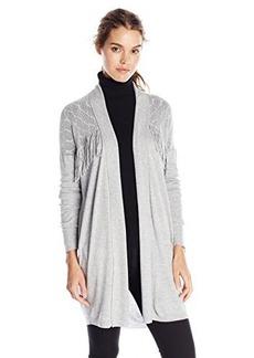 Ella moss Women's Collette Fringe Detail Cardigan Sweater