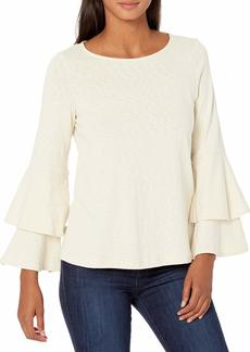 Ella Moss Women's Cora Feminine Two Tier Sleeve Knit Top