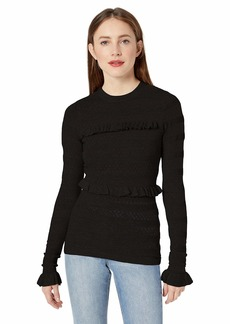 Ella Moss Women's Emma Ruffled Long Sleeve Top  X Small