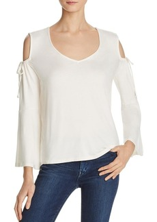 Ella Moss Women's Essential Bella V-Neck Cold Shoulder Top  S