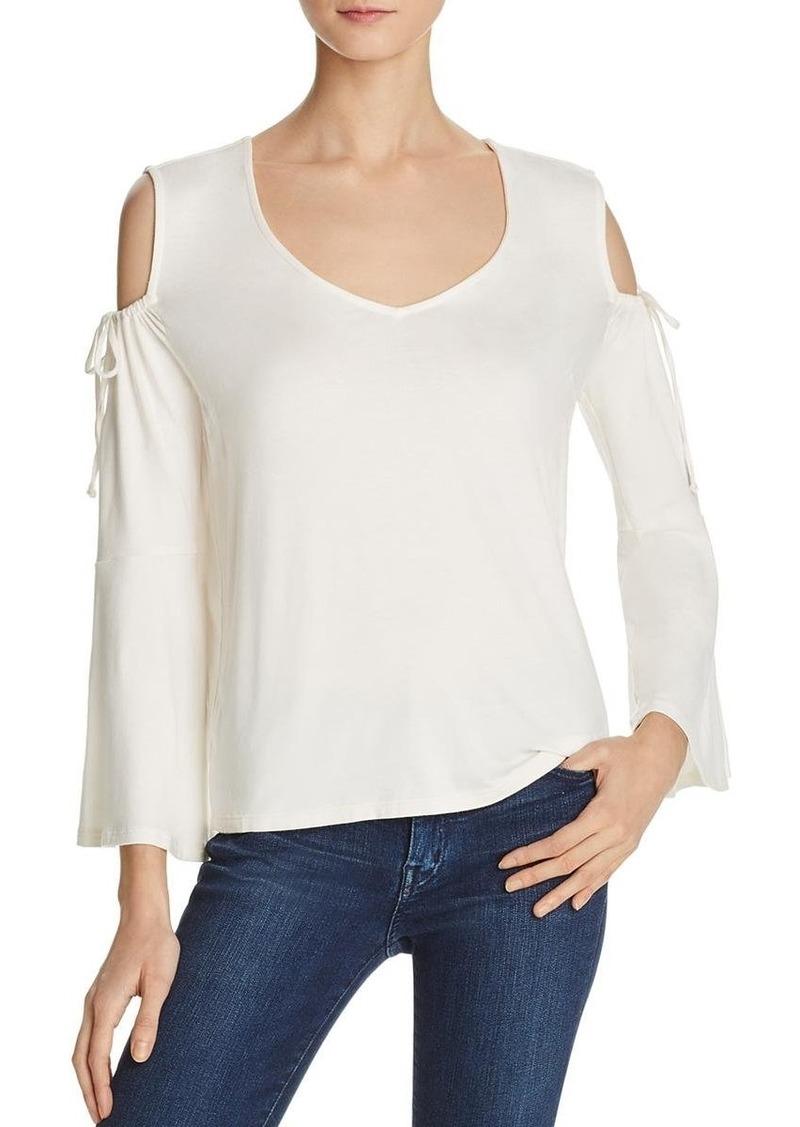 Ella Moss Women's Essential Bella V-Neck Cold Shoulder Top  S