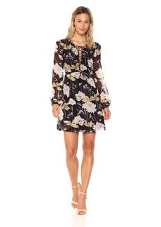 Ella Moss Women's Floral Haze Georgette Dress  L