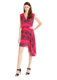 Ella moss Women's Hazeline Printed Asymetrical Hem Dress
