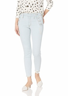 Ella Moss Women's High Rise Skinny Ankle Jean BOYD - Button Detail