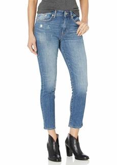 Ella Moss Women's High Rise Slim Straight Ankle Jean McKinney