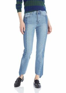 Ella Moss Women's High Waist Straight Leg Ankle Jean