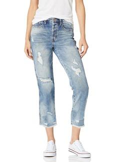 Ella Moss Women's High Waist Straight Leg Crop Jean