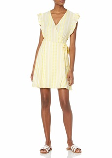 Ella Moss Women's Jessie Flutter Sleeve Wrap Dress