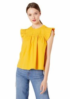 Ella Moss Women's Joan Crop Woven Top  XLarge