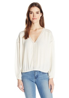 Ella Moss Women's Katella V Neck Lace Blouse  S