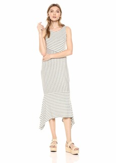 Ella Moss Women's Kaylee Striped Drape Hem Dress  XLarge