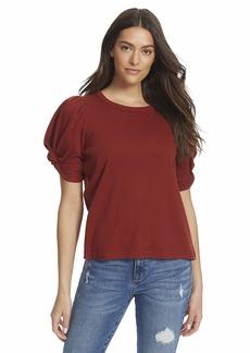 Ella Moss Women's Linnea Twist Short Sleeve Top
