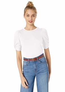 Ella Moss Women's Linnea Twist Sleeve Tee Shirt  X Large