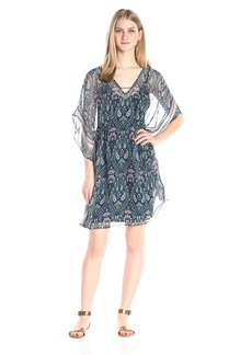 Ella moss Women's Lorelei Printed Silk Caftan Dress
