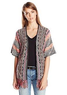 Ella moss Women's Malika Blanket Fringe Detail Cardi