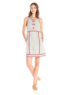 Ella Moss Women's Marini Embroidered Dress  L