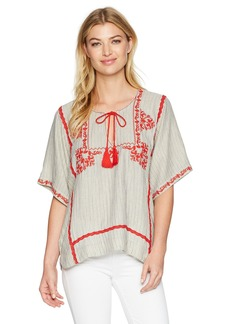 Ella Moss Women's Marini Embroidered Top  M