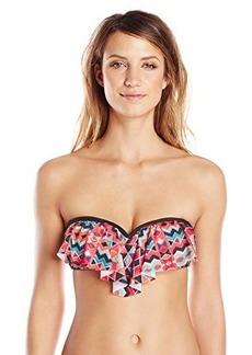 Ella Moss Women's Marrakech Ruffle Bandeau Bikini Top
