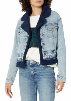 Ella Moss womens Mixed Denim Jean Jacket   US