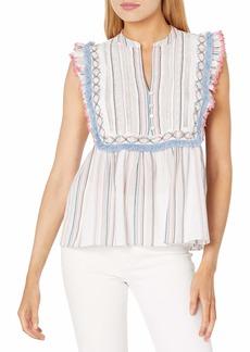 Ella Moss Women's Natalia Babydoll Styled Sleeveless Top  XLarge