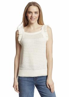 Ella Moss Women's Nicole Ruffle Trim Sweater Tank Top