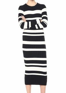 Ella Moss Women's Peyton Striped Long Sleeve Sweater Dress