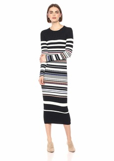 Ella Moss Women's Peyton Striped Long Sleeve Sweater Dress