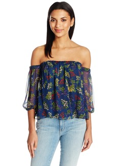 Ella moss Women's Poetic Garden Off The Shoulder Blouse  S