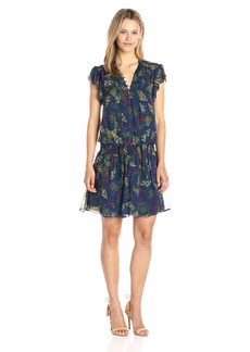 Ella Moss Women's Poetic Garden Tie Front Dress  S