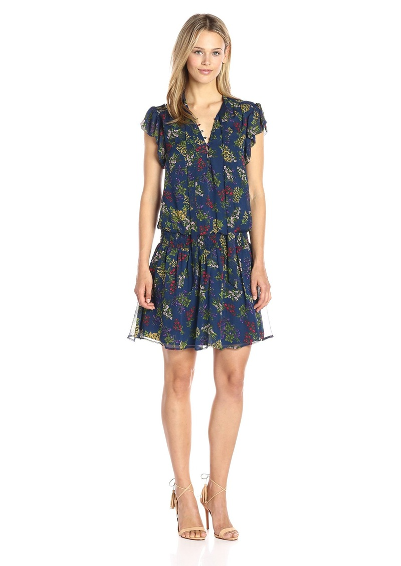 Ella Moss Women's Poetic Garden Tie Front Dress  XS