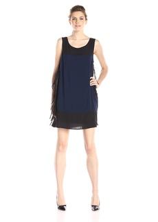 Ella moss Women's Rania Sleeveless Fringe Side Shift Dress