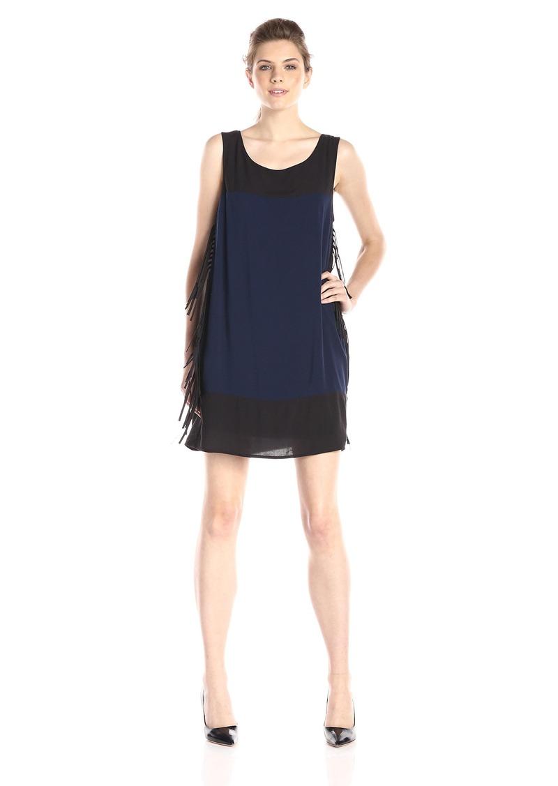 Ella Moss Women's Rania Sleeveless Shift Dress with Fringe