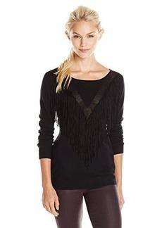 Ella moss Women's Ravi Pull Over Fringe Sweater
