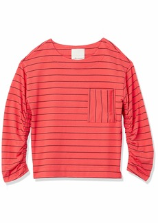 Ella Moss Women's Reese Cute Smocked Sleeve Knit Top