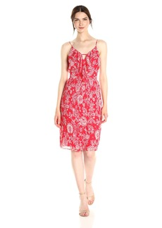Ella Moss Women's Ria Floral Pleated Dress  M