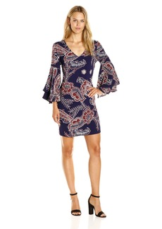 Ella moss Women's Riya Flutter Sleeve Dress  XS