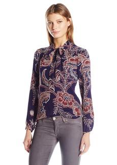Ella Moss Women's Riya Tie Front Blouse  XS