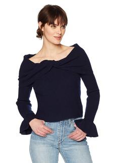 Ella Moss Women's Ruffle Sleeve Sweater  L