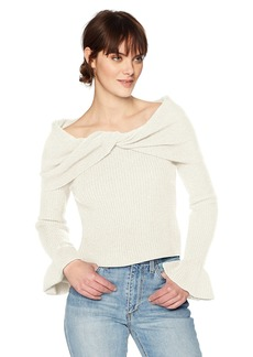 Ella moss Women's Ruffle Sleeve Sweater  M