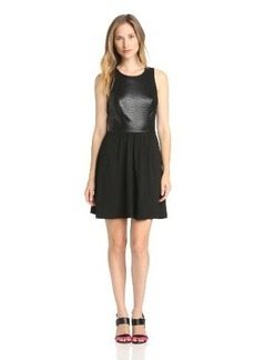 Ella Moss Women's Tabitha Solid Mix Sleeveless Dress