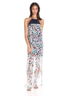 Ella moss Women's Tahiti Garden Macrame Maxi Dress